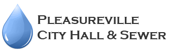 Pleasureville City Hall and Sewer District Logo